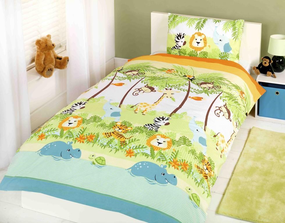 Pościel dla dzieci Zwierzęta Dżungli 140x200