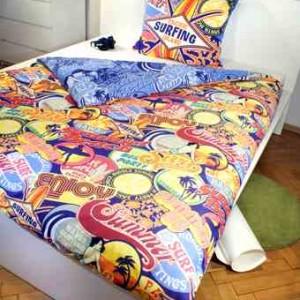 pościel 160x200 dla młodzieży surfing dla uprawiająych sport, bawełniana bardzo kolorowa,