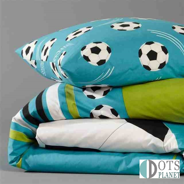 Po ciel kibica football turkusowa pi ka 140x200 for Housse couette foot