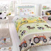 Pościel dla chłopca Traktor i Farma 140x200