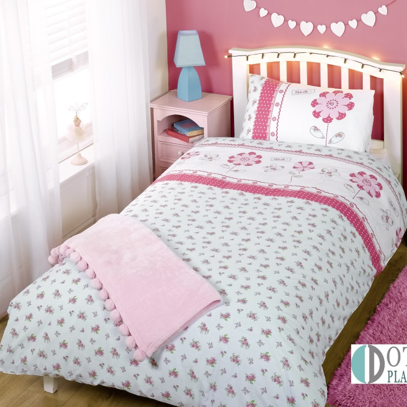 Pink And Blue Baby Bedding