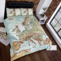 pościel mapa europy dla podróżnika prezent na urodziny dla chłopaka dziewczyny nastolatka studenta ciekawa kolorowa 200x200 140x200 160x200