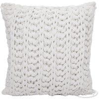 poduszka dekoracyjna poszewka biała jak wełniana sweterkowaEVA 2 40X40