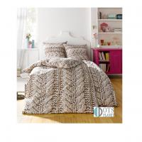 pościel bawełniana zimowa wzór wełniany 140x200 urocza i modna skandynawska babciana dzianina