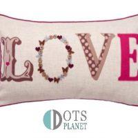 poduszka dekoracyjna z wypełnienie dla dziewczynki młodzieżowa nastolatki love deep