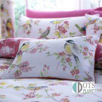 poduszka z wypełnienie birds butique romantyczna w ptaki i kwiaty 30x40x15