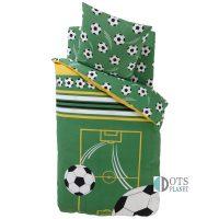 zielona pościel 140x200 piłka football dla chłopca piłkarza
