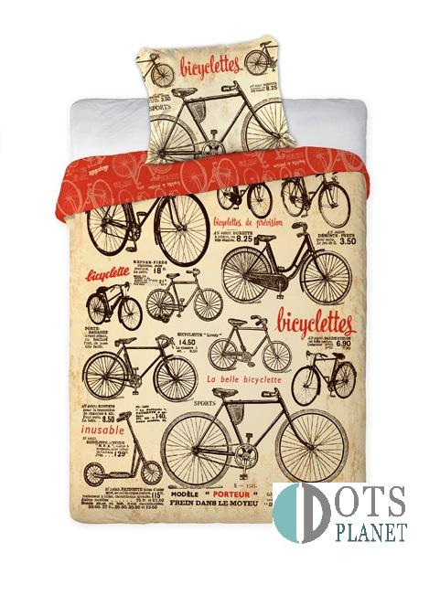 pościel bawełniana stare rowery faro 160x200 bawełna kolekcja rotacyjna