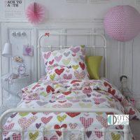 Pościel bawełniana kolorowe serca 140x200