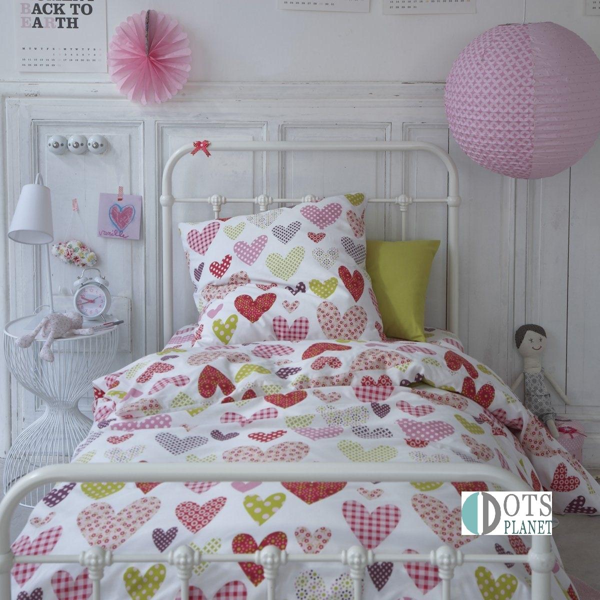 po ciel bawe niana kolorowe serca 140x200. Black Bedroom Furniture Sets. Home Design Ideas