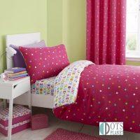 Catherine-Lansfield-Multispot posciel kolorowe zywe kolory dla dziewczynki 140x200 dla przedszkolaka dla czterolatki