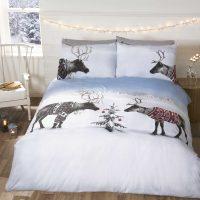 Reindeer Jumpers posciel swiateczna z jeleniami łosiami młodzieżowa 140x200 200x200 220x200