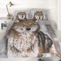 pościel młodzieżowa 140x200 z wilkiem wilk wolf ze zwierzętami skandynawski styl