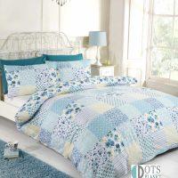 signature Elsa Patchwork blue posciel niebieska elsa mlodziezowa romantyczna rustykalna wiejski styl sielski niebieska w kwiaty