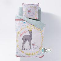 pościel z jelonkiem bambi i króliczkiem bawełniana dla dzieci dziecięca 140x200