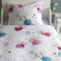beddinghouse-flower-fairy-posciel dla dziewczynki wrozki ksiezniczki elfy 140x200 biala bawelniana sliczna slodka urocza milusia