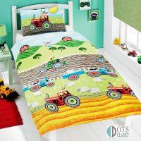 Pościel dla chłopca Czerwone Traktory 140x200