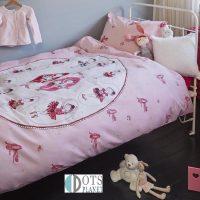 posciel dla malej dziewczynki 140x200 z motywem baletnicy balleriny balet pink rozowa beddinghouse bawełna wysokiej jakosci