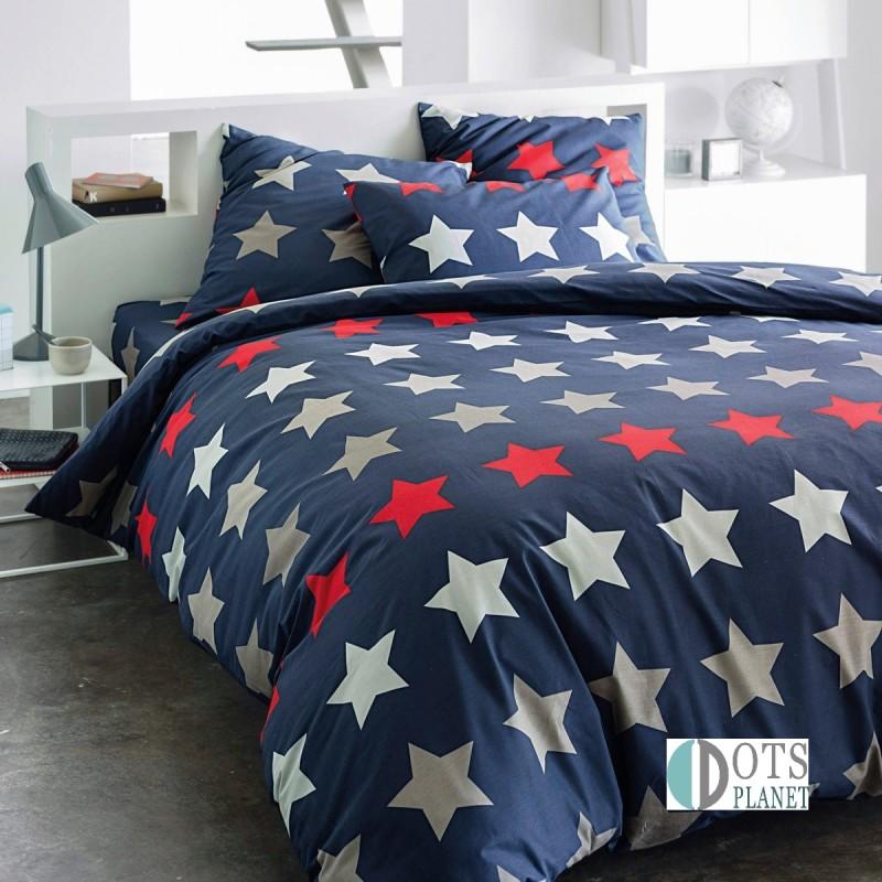 po ciel dla nastolatka granatowe gwiazdy 140x200. Black Bedroom Furniture Sets. Home Design Ideas