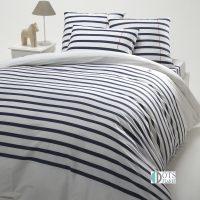 pościel stripes blue bawełniana 140x200