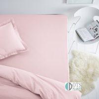 przescieradlo z gumka bawełniane jersey 140x200 na standardowy materac jasny róż różowy