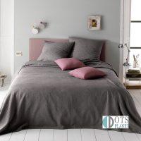 narzuta na łożko kapa żakardowa szara siwa antracyt 230x250 bawełniana c