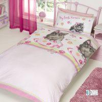 My little Kittens pościel dla dziewczynki dzieci z kotkiem słodkim różowa 140x200 antyalegriczna słodka