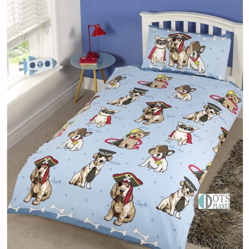 Pościel Dla Dzieci Wesołe Psiaki Doggies Blue 140x200
