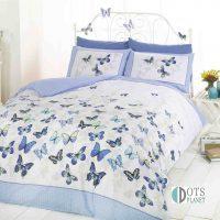 flutter blue pościel w motylki motyle dla dziewczynki i nastolatki młodzieżowa 140x200 błękitna