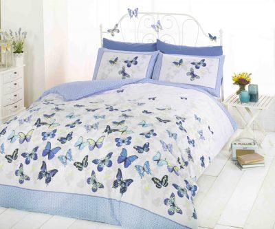 Pościel Błękitne Motyle 140x200