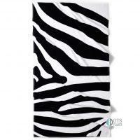 ręcznik plażowy młozieżowy dla młodzieży i nastolatków zebra 100x180 welurowy