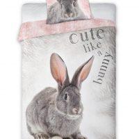 ciekawa pościel dla młodzieży z królikiem 160x200 bawełniana śmieczna