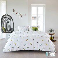marjolein-bastin-tropische-veren posciel kolorowe pióra 140x200 bawełna