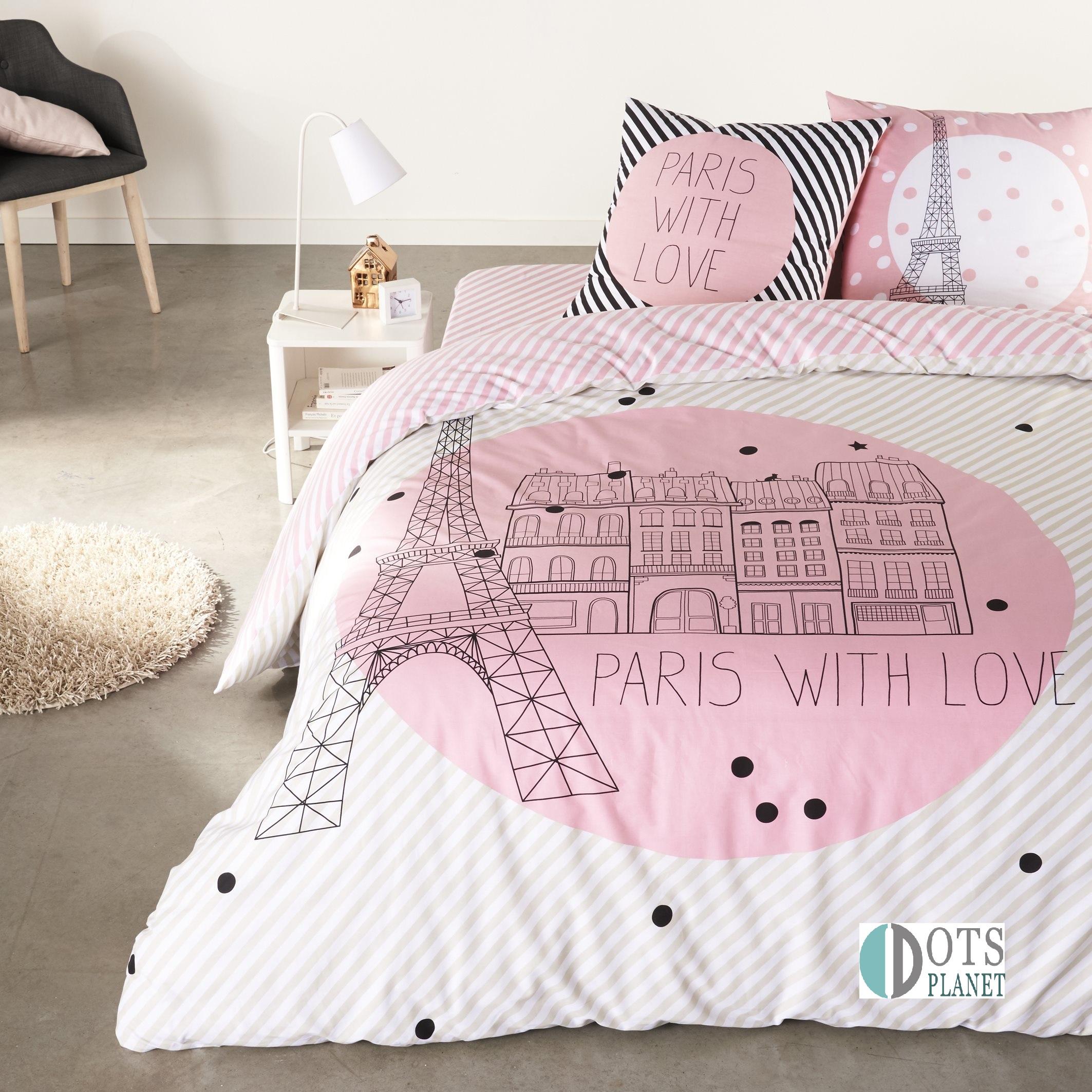 po ciel m odzie owa bawe niana 140x200 i love paris. Black Bedroom Furniture Sets. Home Design Ideas