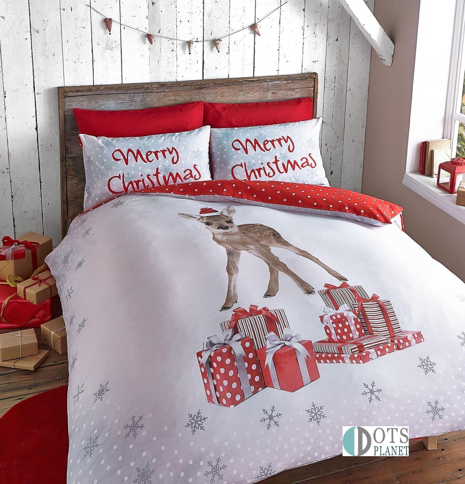 Pościel świąteczna Dla Dzieci 140x200 Sarenka Christmas Deer