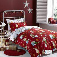 swiateczna-posciel-dla-dzieci-z-elfami-bardzo-kolorowa-czerwona-reniferkami-i-choinka-na-boze-narodzenie-na-prezent-bawelniana-flanelowa