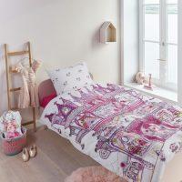 beddinghouse-fairy-palace-rozowa posciel dla dziewczynki 140x200 bawelniana zamek wrozek