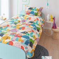 posciel bawelniana dla dzieci bardzo kolorowa zwierzątka 140x200 liama beddinghouse