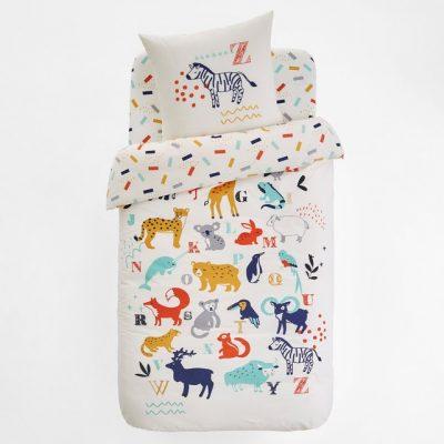 pośćiel ze zwierzętami dla małych dzieci kolorowa ładna pościel z bawełny