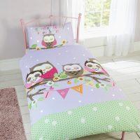 Goodnight My Sweethear posciel w kolorowe sowy dla dzieci