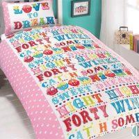 kolorowa pościel z literkami pościel dla dziewczynki sklep internetowy