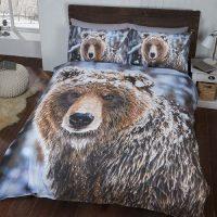 big bear posciel swiateczna zimowa z niedzwiedziem bawelniana mlodziezowa 3d na zime