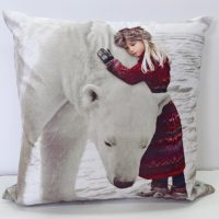 poduszka dekoracyjna Anoushka welurowa miekka swiateczna 43x43