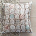poduszka dekoracyjna splot welniany w kropki dots pastel 45x45 na zime na prezent