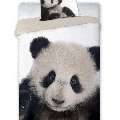 posciel mlodziezowa zwierzeta panda bialo czarna 160x200 bawelniana