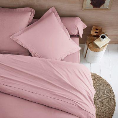 przescieradlo bawelniane bez gumki 150x200 gesta bawelna jasny roz