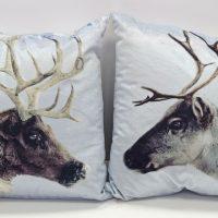 reindeer jumpers poduszka dekoracyjna dwustronna 43x43 swiateczna z reniferami