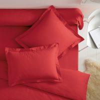 bawełniana poszewka na poduszkę 50x70 czerwona
