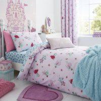 posciel dla dziewczynki faires pink wrozki 140x200