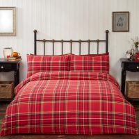posciel flanelowa campbell czerwona swiateczna w szkocka kratke 140x200 200x200 220x200 pościel bawełniana sklep internetowy